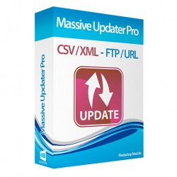 Massive Updater Pro via CSV / URL / FTP cronjobs compatible Prestashop Module