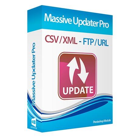Actualizador CSV/XML Masivo Profesional vía URL/FTP Compatible cronjobs Módulo Prestashop