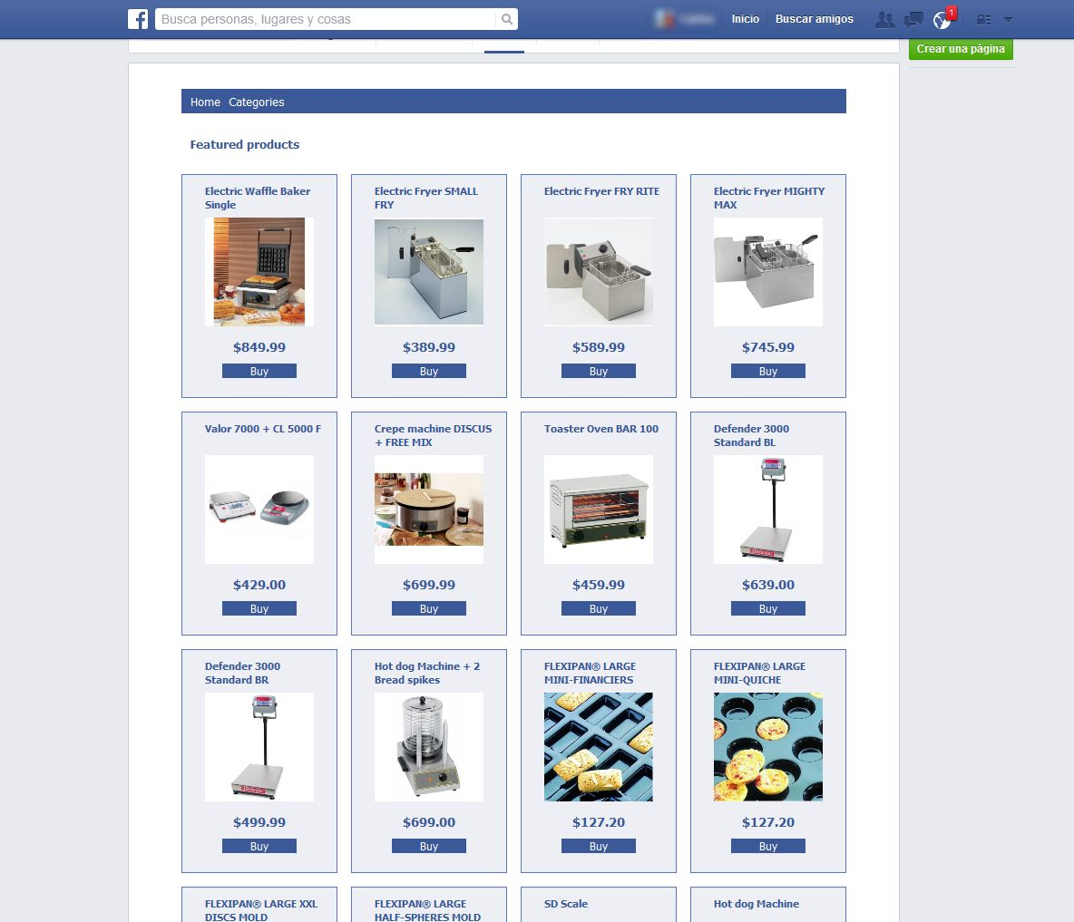 Facebook Shop Tab - Prestashop