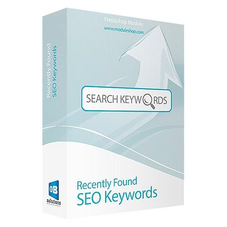 Recently Found SEO Keywords Prestashop Module