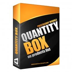 Product List Quantity Box PrestaShop Module