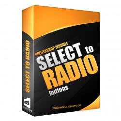 Select de Atributos a Botones Radio Módulo Prestashop