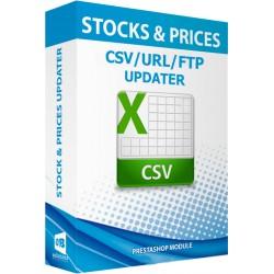 Actualizador de stocks y precios vía CSV / URL / FTP + alertas de stock Módulo Prestashop
